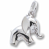 14K White Gold Baby Elephant Charm by Rembrandt Charms