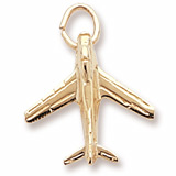 10K Gold Military Plane Charm by Rembrandt Charms