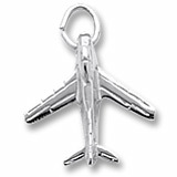 14K White Gold Military Plane Charm by Rembrandt Charms