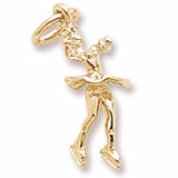 Gold Plate Twirling Ice Skater Charm by Rembrandt Charms