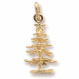 14K Gold Small Evergreen Tree Charm by Rembrandt Charms