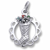 Sterling Silver Stocking Full of Joy Charm by Rembrandt Charms