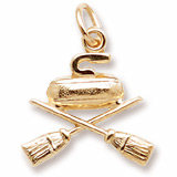 Gold Plate Curling Charm by Rembrandt Charms