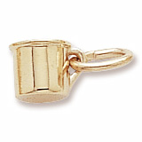 Gold Plate Baby Cup Accent Charm by Rembrandt Charms