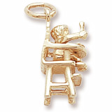 10K Gold Highchair Charm by Rembrandt Charms