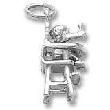 Sterling Silver Highchair Charm by Rembrandt Charms
