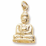 14K Gold Meditation Buddha Charm by Rembrandt Charms