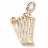 10K Gold Harp Charm by Rembrandt Charms