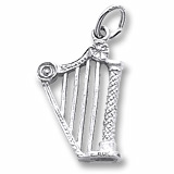 14K White Gold Harp Charm by Rembrandt Charms