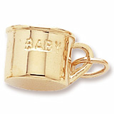 10K Gold Inscribed Baby Cup Charm by Rembrandt Charms