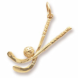 10K Gold Field Hockey Sticks Charm by Rembrandt Charms