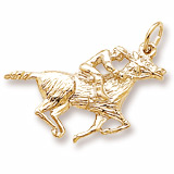 10K Gold Horse and Jockey Charm by Rembrandt Charms
