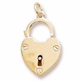 Gold Plate Locked with Love by Rembrandt Charms