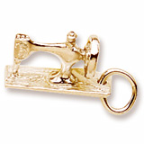 Gold Plate Sewing Machine Charm by Rembrandt Charms
