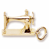 10k Gold Sewing Machine Charm by Rembrandt Charms