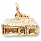Gold Plate Ranch House Charm by Rembrandt Charms