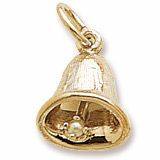 Gold Plate Small Bell Charm by Rembrandt Charms