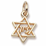 Gold Plate Mazel Tov Star of David Accent by Rembrandt Charms
