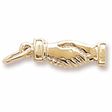 14K Gold Handshake Charm by Rembrandt Charms