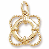 Gold Plate Life Preserver Charm by Rembrandt Charms