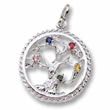 Sterling Silver Tree of Life Charm Select Stones by Rembrandt Charms