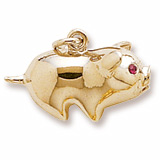 10K Gold Piggy Bank Charm by Rembrandt Charms