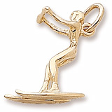Gold Plate Water Skier Charm by Rembrandt Charms
