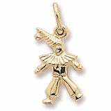 Gold Plate Clown Accent Charm by Rembrandt Charms