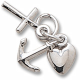 Sterling Silver Faith, Hope and Charity Accent by Rembrandt Charms