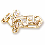 10K Gold Small Music Staff Charm by Rembrandt Charms