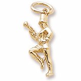 10K Gold Majorette Charm by Rembrandt Charms