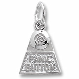 14K White Gold Panic Button Charm by Rembrandt Charms