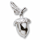 Sterling Silver Acorn Accent Charm by Rembrandt Charms