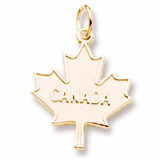 10k Gold Canada Maple Leaf by Rembrandt Charms