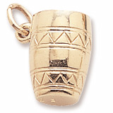 10K Gold Bongo Drum Charm by Rembrandt Charms