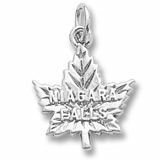 14K White Gold Niagara Falls Maple Leaf Charm by Rembrandt Charms