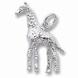 14K White Gold Giraffe Charm by Rembrandt Charms