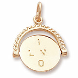 10K Gold I Love You Spinner Charm by Rembrandt Charms
