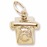 Gold Plate Rotary Phone Charm by Rembrandt Charms