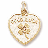 Gold Plate Good Luck Heart Charm by Rembrandt Charms