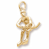 10K Gold Male Hockey Player Charm by Rembrandt Charms