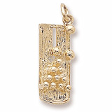 Gold Plate Bowling Lane Charm by Rembrandt Charms