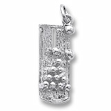 14K White Gold Bowling Lane Charm by Rembrandt Charms