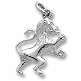 14K White Gold Ramped Lion Charm by Rembrandt Charms