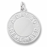 14K White Gold A Day To Remember Disc Charm by Rembrandt Charms