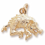 10K Gold Wild Boar Charm by Rembrandt Charms
