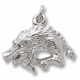 Sterling Silver Wild Boar Charm by Rembrandt Charms