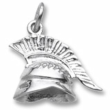 14K White Gold Roman Helmet Charm by Rembrandt Charms