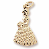 Gold Plate Bridesmaid or Flower Girl Charm by Rembrandt Charms