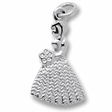 14k White Gold Bridesmaid or Flower Girl Charm by Rembrandt Charms